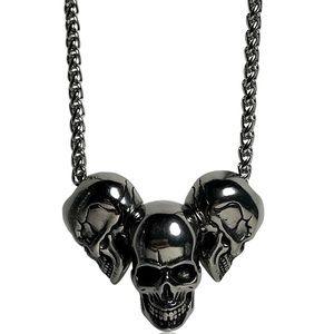 Other - Gothic Punk Multi Skull Skeleton Necklace